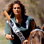 Erica Gandomcar-Sachs excels at polo.